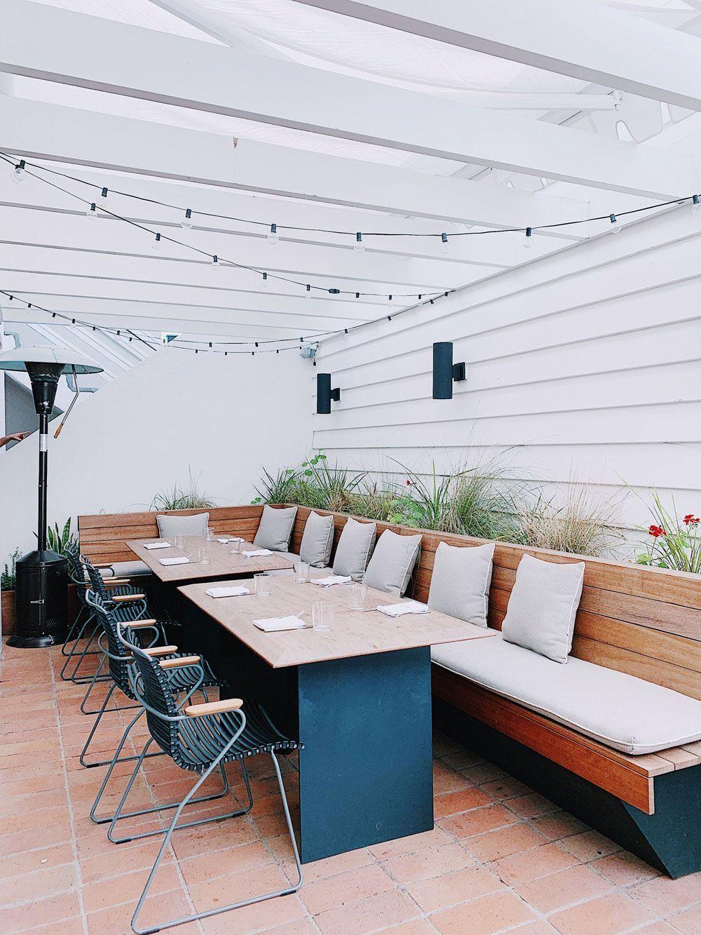 dining patio at hotel joaquin. / sfgirlbybay