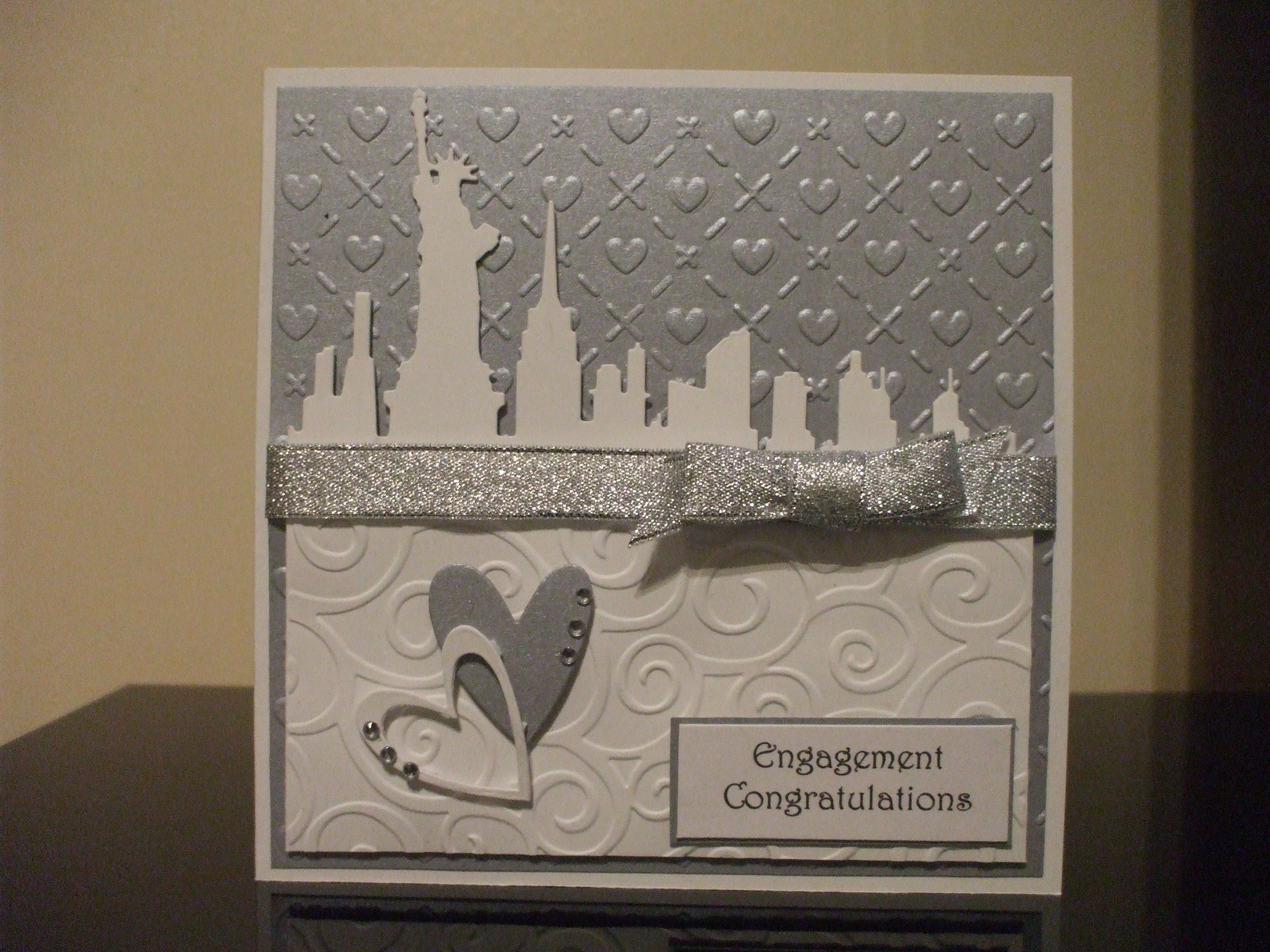 Handmade engagement card new york theme my crafting collection