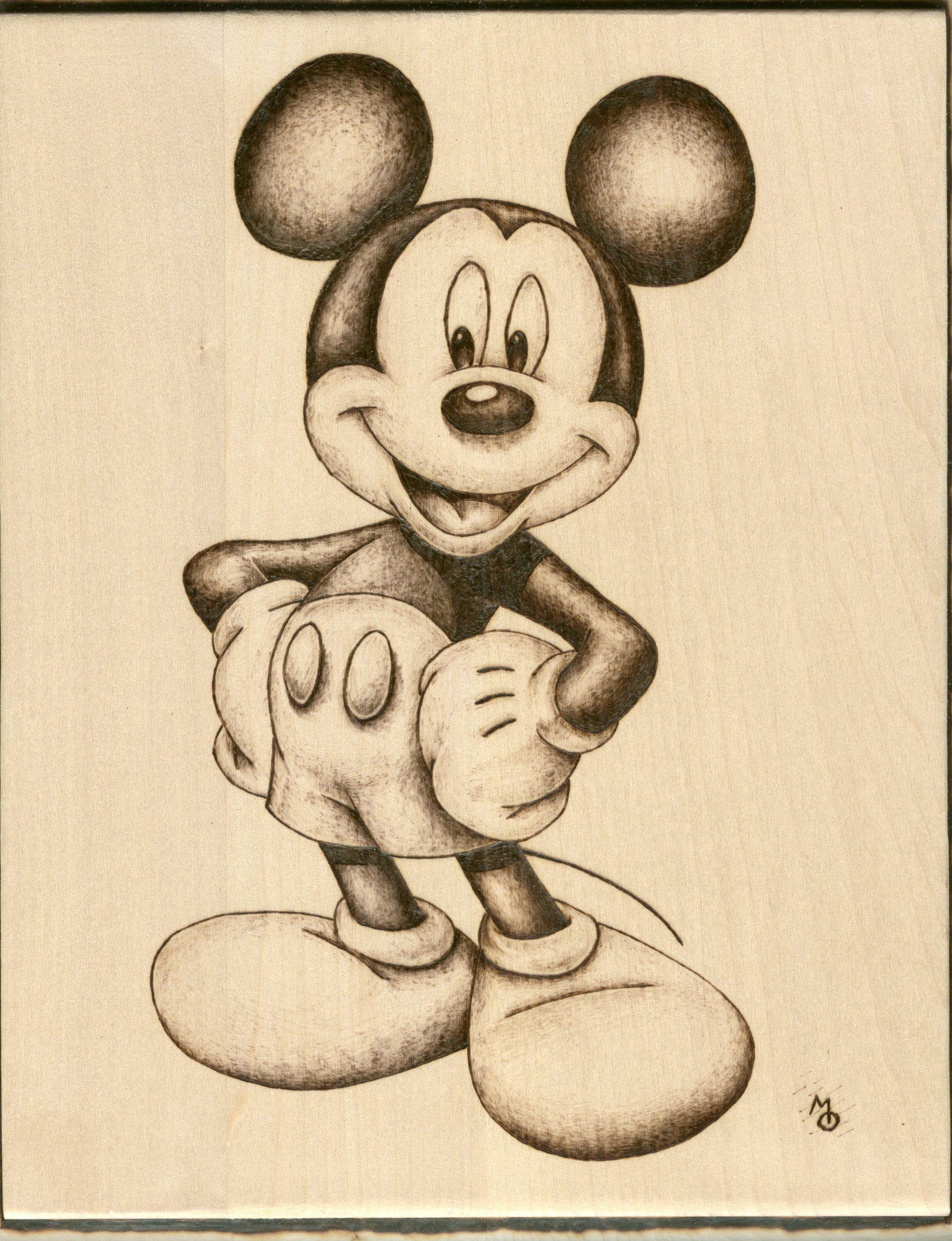 Watercolors Stor Mantel Individual Mickey Mouse Disney