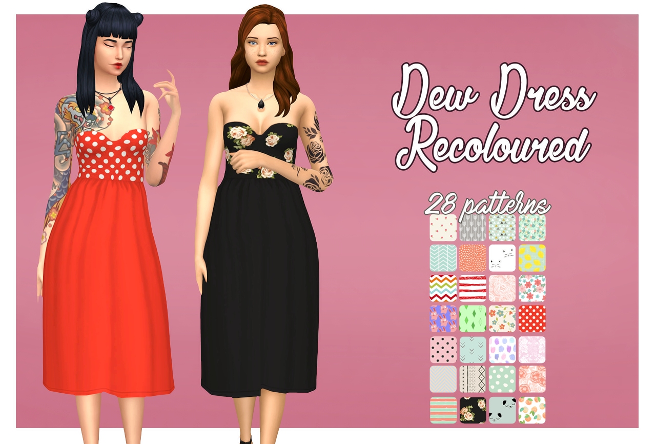 Lana CC Finds - pixielated: Dew Dress Recoloured  29 pattern