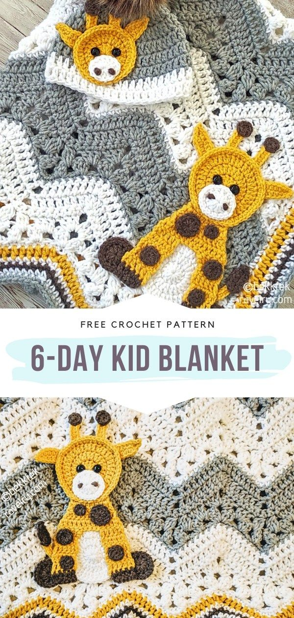 How to Crochet 6-Day Kid Blanket