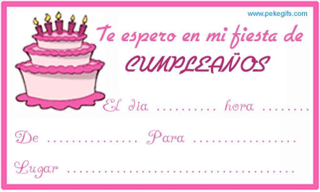 Tarjetas De Invitacion De Cumpleaños 9 Años Para Enviar Por