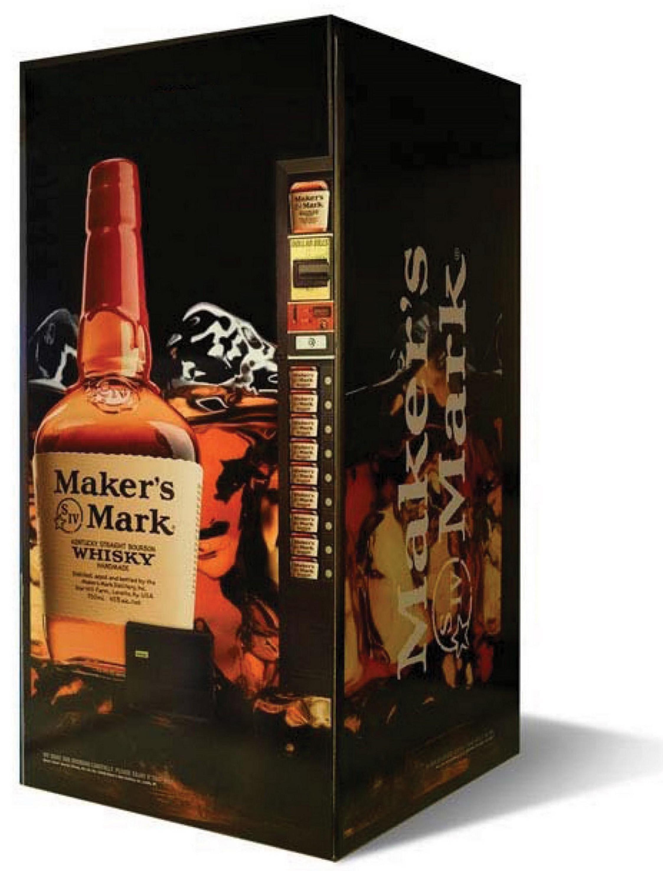 maker s mark whisky vending machine complete with bartender inside