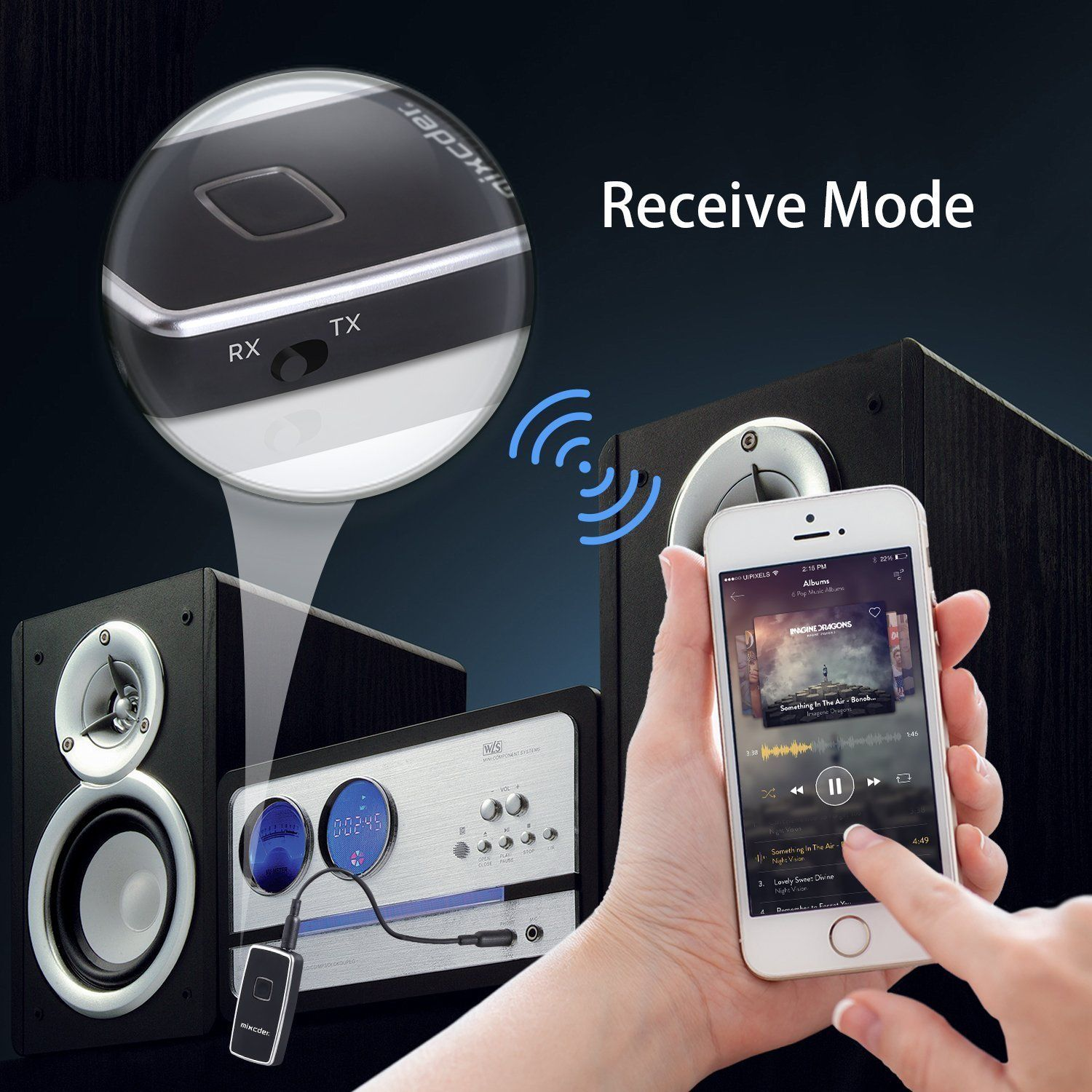 Bluetooth Transmitter and Receiver, Mixcder TR007 Wireless 2