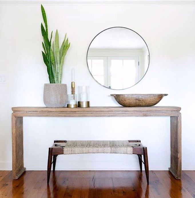 43 Beautiful Rustic Entryway Decoration Ideas: How To Style A Console TableBECKI OWENS