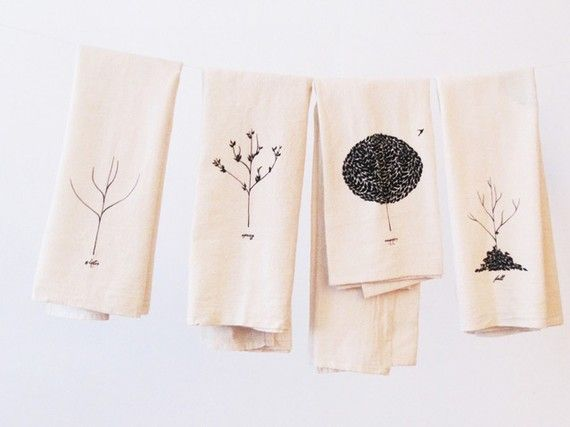 lovely teatowels, would look great with one or two stranded embroidery