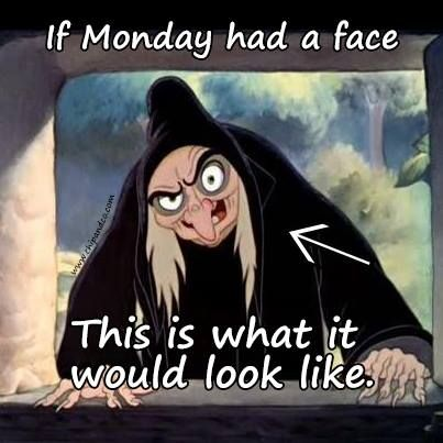 If Monday had a face