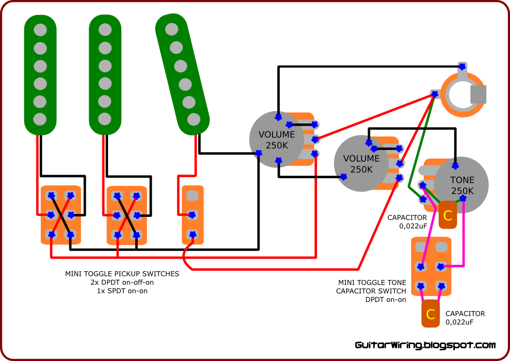 Guitar Pickup Wiring Diagram | Vintage Guitars | Guitar
