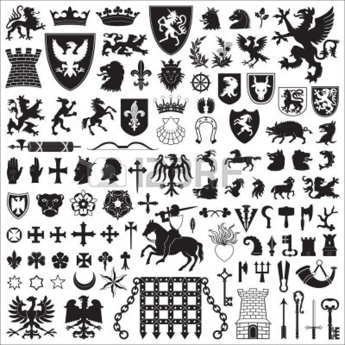 Heraldic symbols and elements top left cool hound but wild boar heraldic symbols and elements top left cool hound but wild boar buycottarizona Gallery