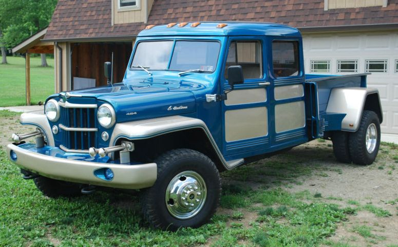 1955 Jeep Willys Truck Body Modified To An Extended Cab Mounted