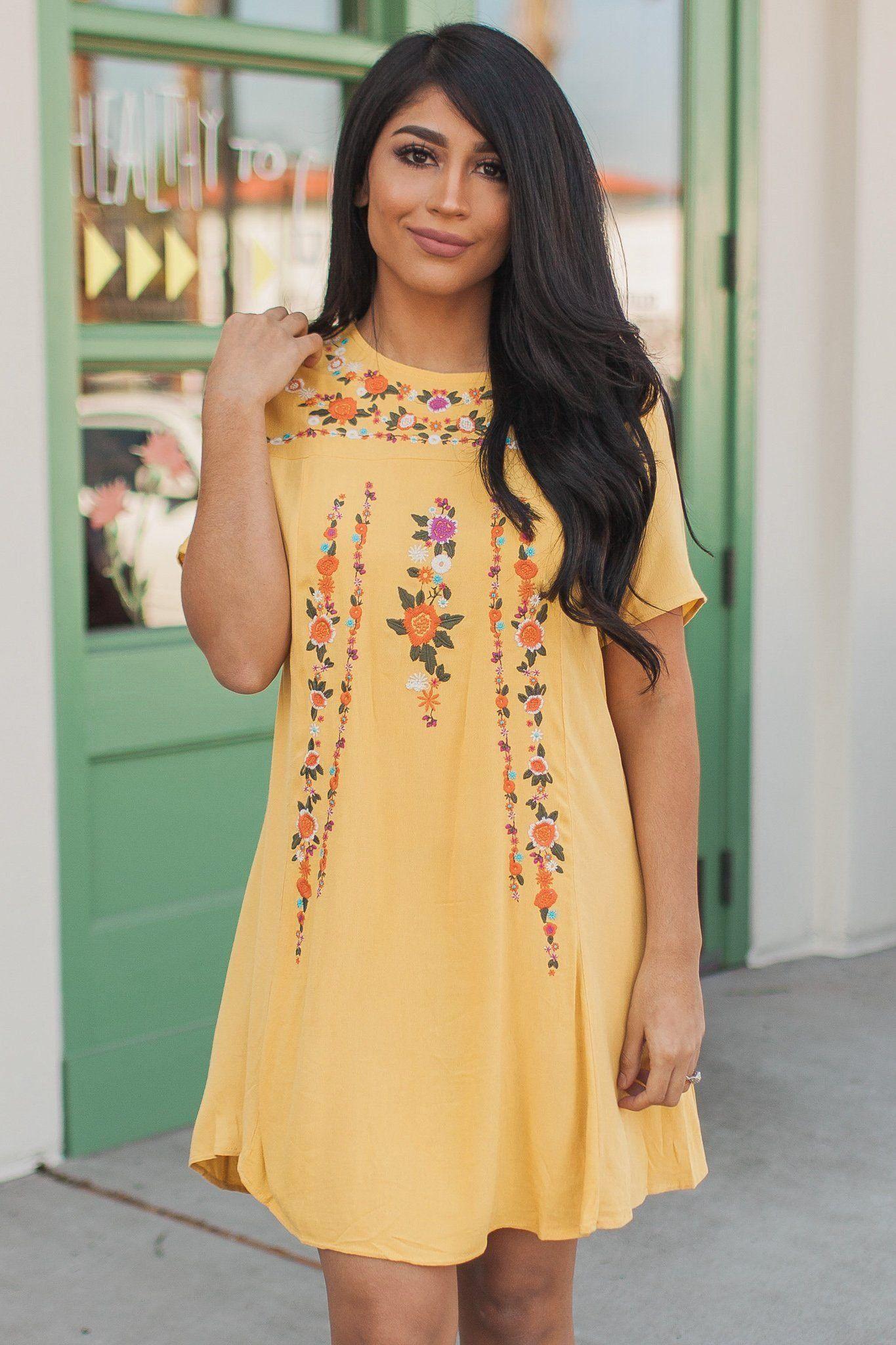 Feeling So Vibrant Shift Dress Yellow 1000 Mexican Style Dresses Dresses Shift Dress [ 2048 x 1365 Pixel ]