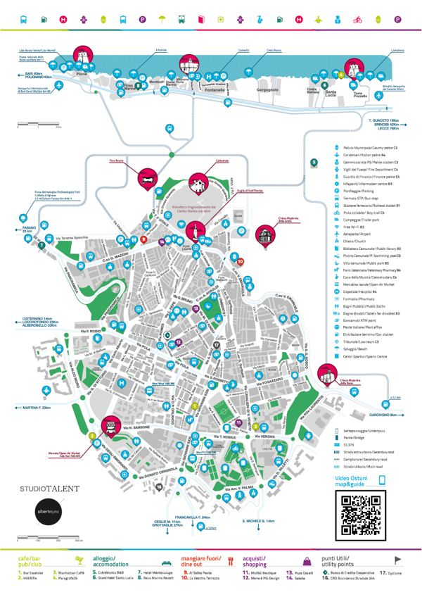 Ostuni Map 2013 By Alberto Zurlo Via Behance Map Pinterest