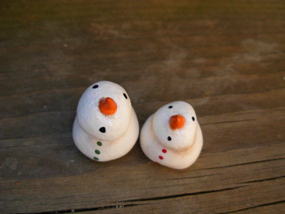 Set of 2 Tiny Little North Pole Snowmen  by WhimsiesByWendy, $12.00