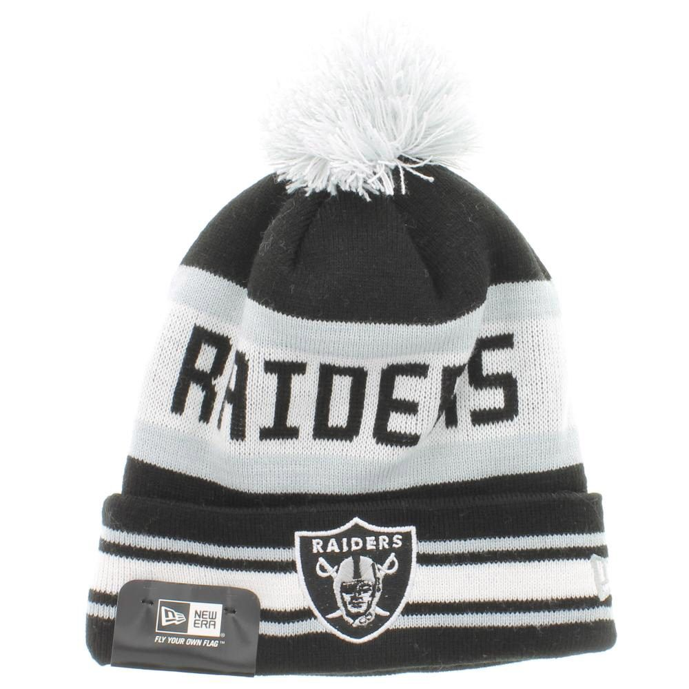 b572c294f2ee8 Oakland Raiders Team Colors The Jake 3 Beanie With Pom