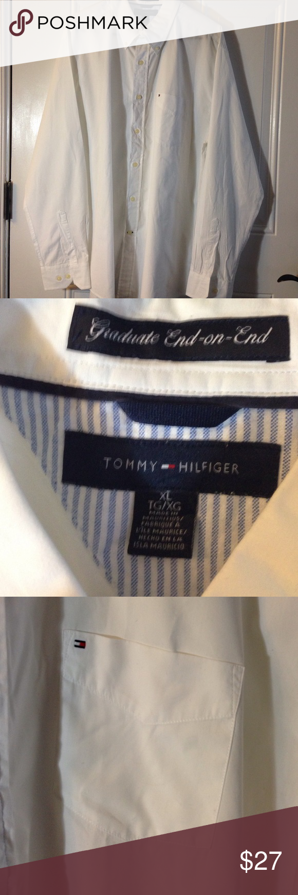 Men's Tommy Hilfiger Long Sleeve Like New Condition Tommy Hilfiger Shirts Tees - Long Sleeve