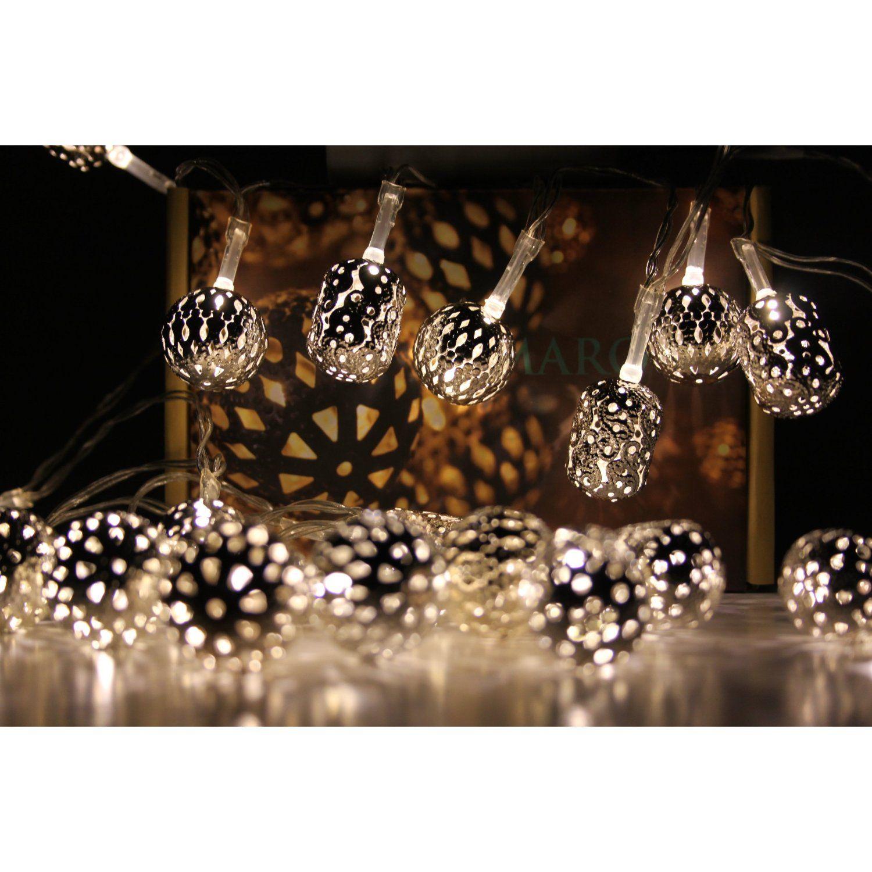 Light chain - Maroq decorative fairy lights - mains operated: Amazon.co.uk