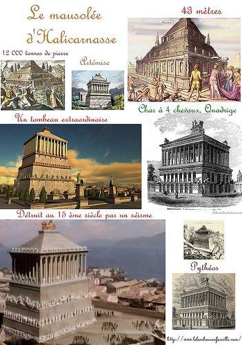 7 Merveilles Du Monde Antique : merveilles, monde, antique, Bonheur, Famille:, Mythes, Légendes, Merveilles, Monde,, Mausolée,