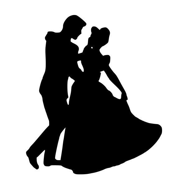 Cinderella and Prince Charming Silhouette Decal by ...