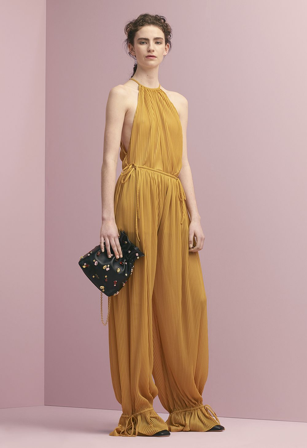 3b00e1e620 Mulberry Summer  18 LFW show. Kate Blouse in Saffron Glossy Jersey ...