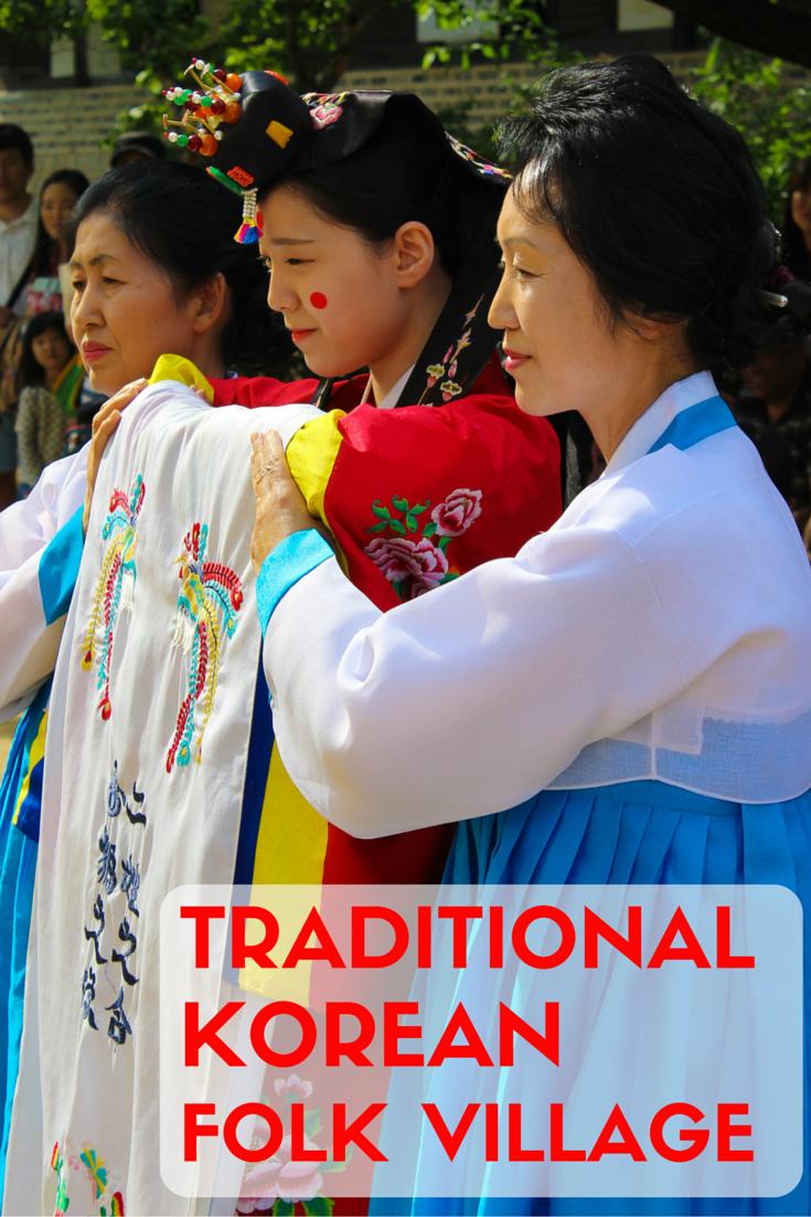 Traditional Korean Folk Village In Yongin