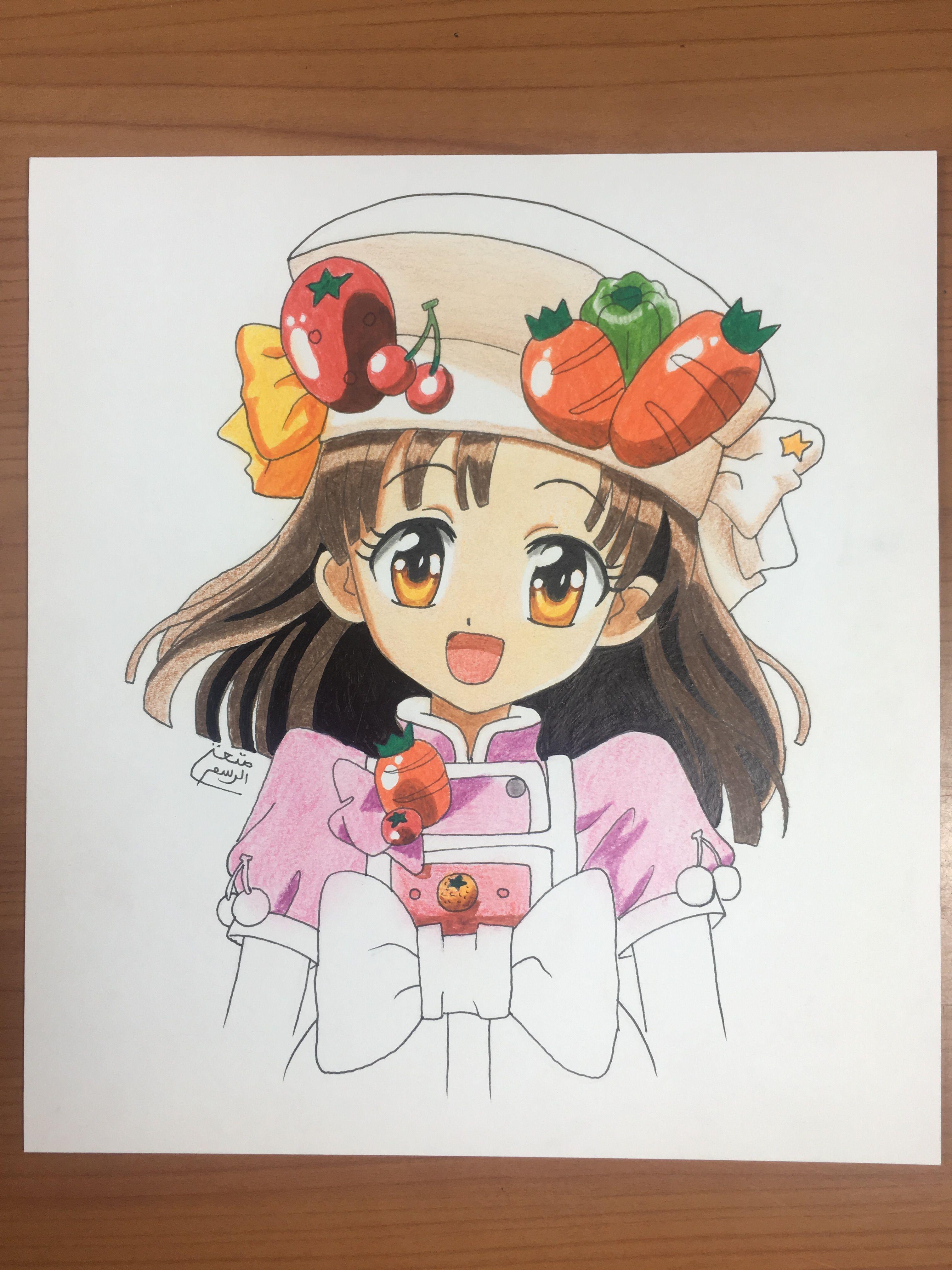 رسم فرح انمي نجمة الطبخ Anime Zeichnung