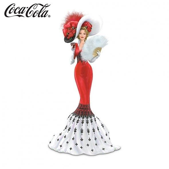 coca cola lady figurine | Feathered and Frilled Coca Cola Lady Figurine by ... | Coke A Cola....