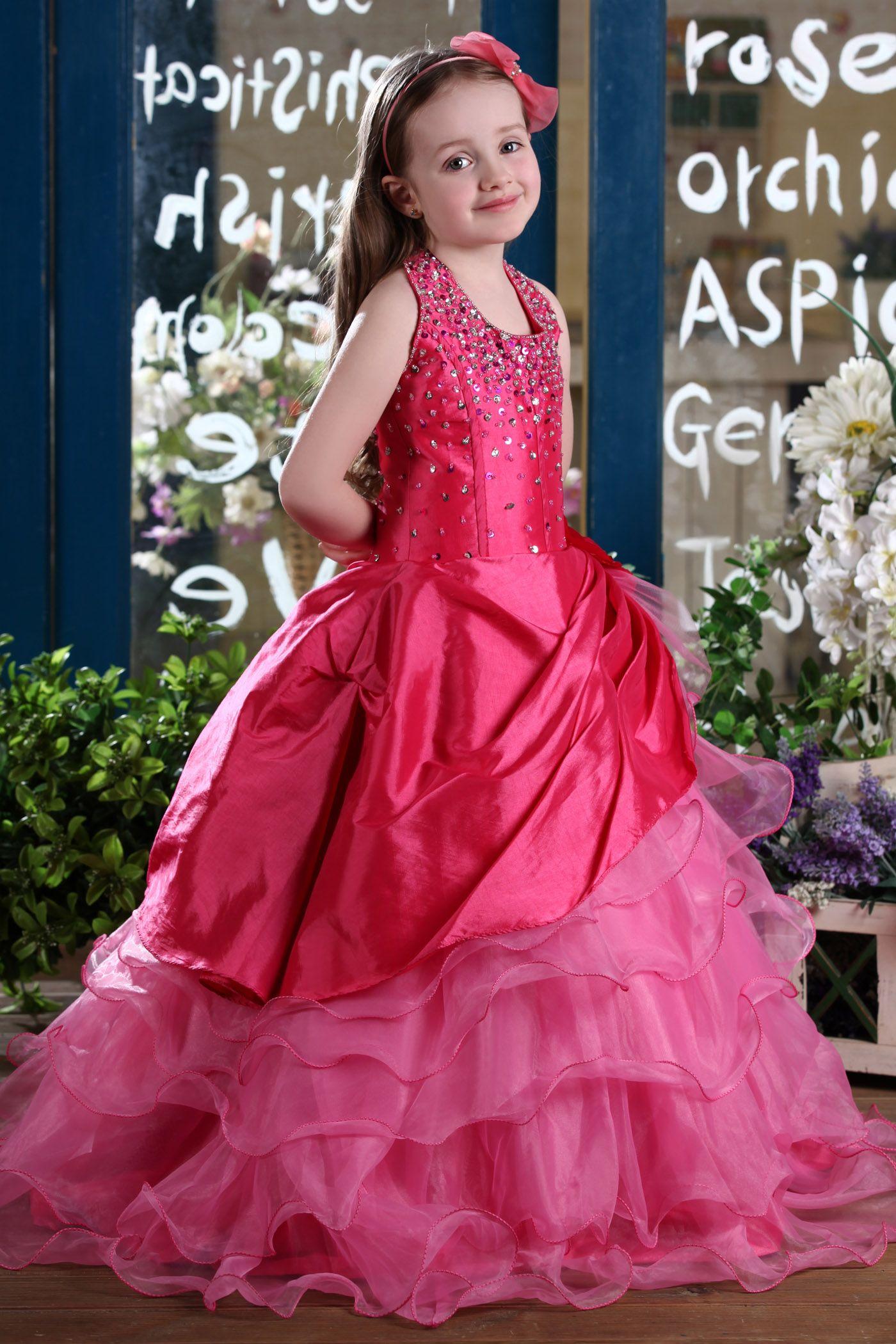 5c9ef93a8 Concise Ball Gown Halter Floor-length Sequins & Flower Embellishing Flower  Girl Dress #ericdressreviews,#ericdress fashion reviews,#ericdress beauty  reviews ...