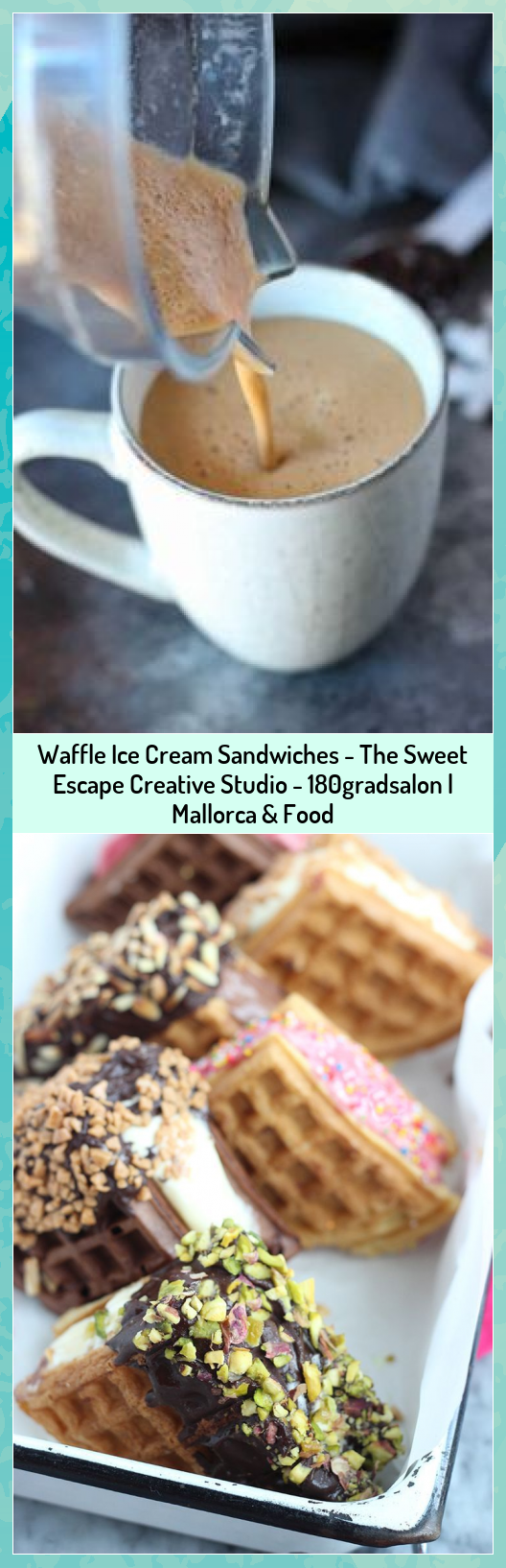 Waffle Ice Cream Sandwiches - The Sweet Escape Creative Studio - 180gradsalon   Mallorca & Food #180gradsalon #Cream #Creative #Escape #Food #Ice #Mallorca #sandwiches #Studio #Sweet #Waffle