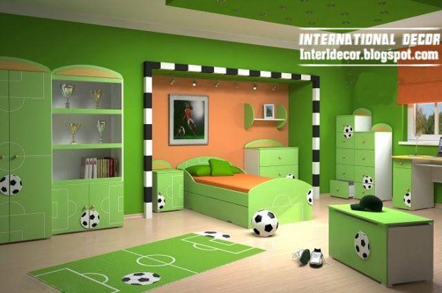 Elegant Football Room Ideas Fine Design Home Furniture Ideas Football Theme For  Cool Kids Room, Soccer Kids Bedroom Theme, Green