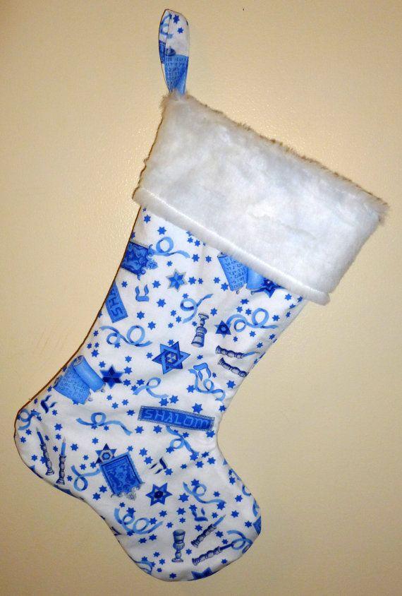 Hanukkah Christmas Stocking.Hanukkah Stocking Good Thinking Decorations Hanukkah