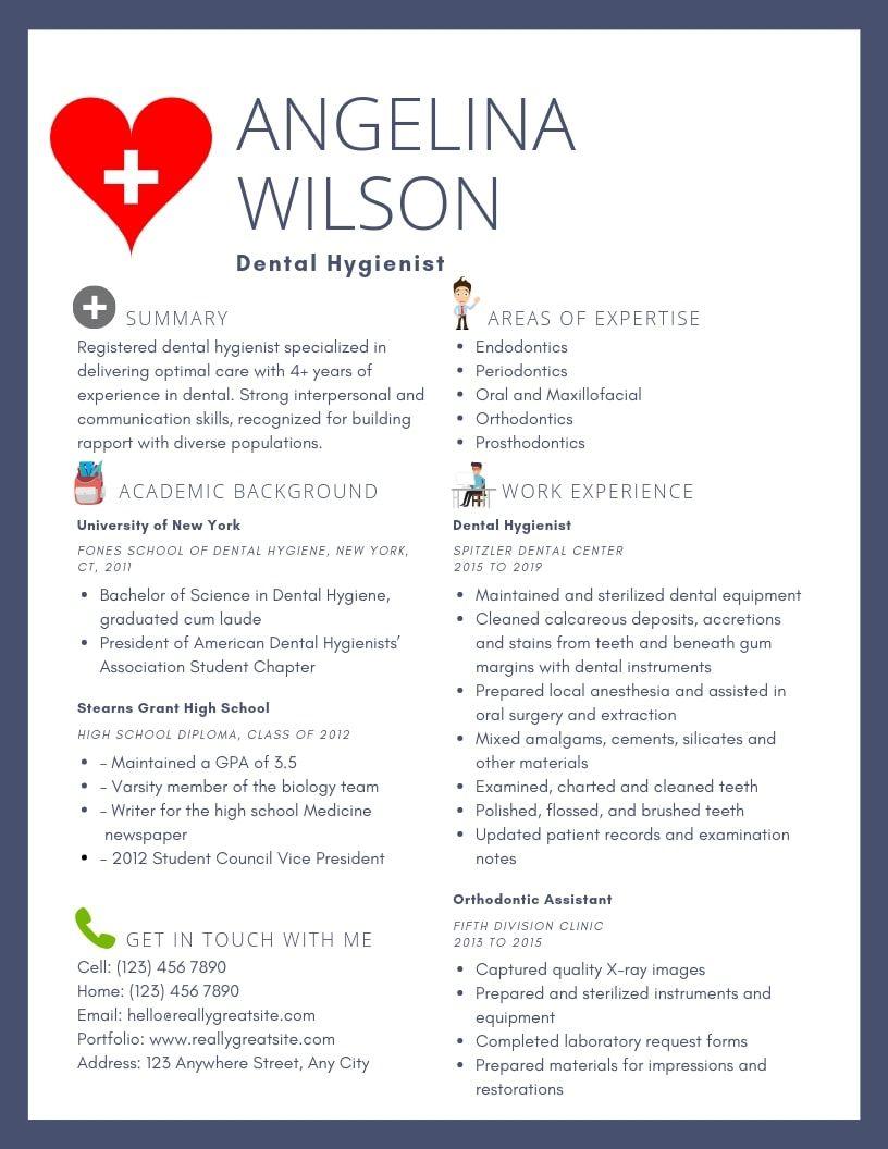 Dental Hygienist Resume Samples & Templates [PDF+Word