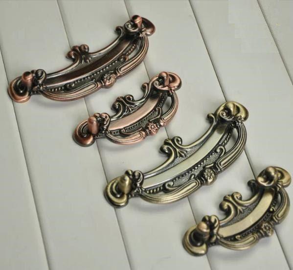 Vintage Style Dresser Pulls Handles Knobs Drop Ring Pulls Drawer Handles  Pullsu2026