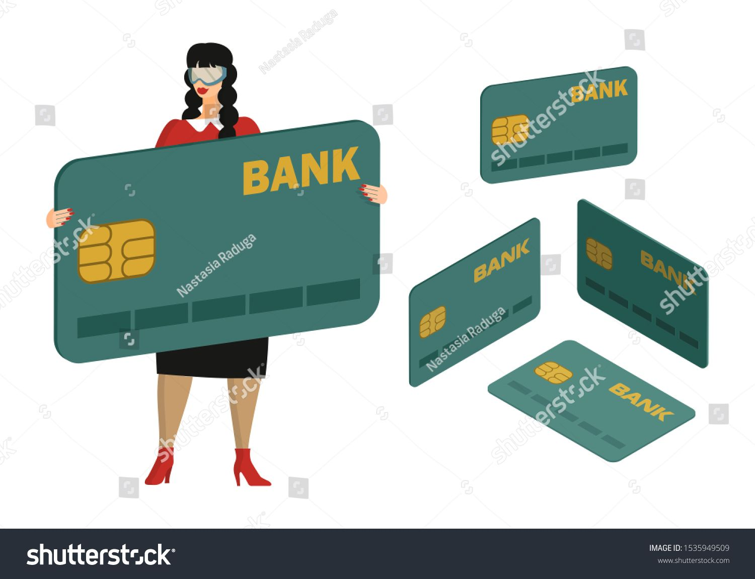 Female Bank Employee Consultant Offers Banking Services Woman Is
