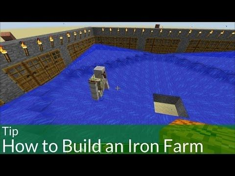 Tip How To Build An Iron Farm In Minecraft Minecraft Minecraft Automatic Farm Cool Minecraft Houses
