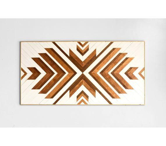 Wood Wall Art ~ Large Wall Art ~ Wooden Wall Art ~ Wooden Wall Art Large ~ Geometric Wood Wall Art ~ White Wood Wall Art ~ Boho Wall Art