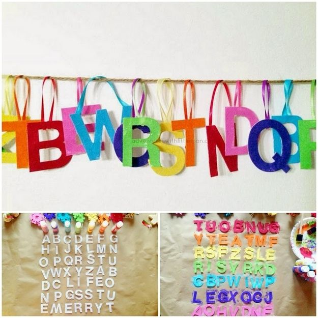 colorful alphabet ornaments ornament craft and christmas ornament