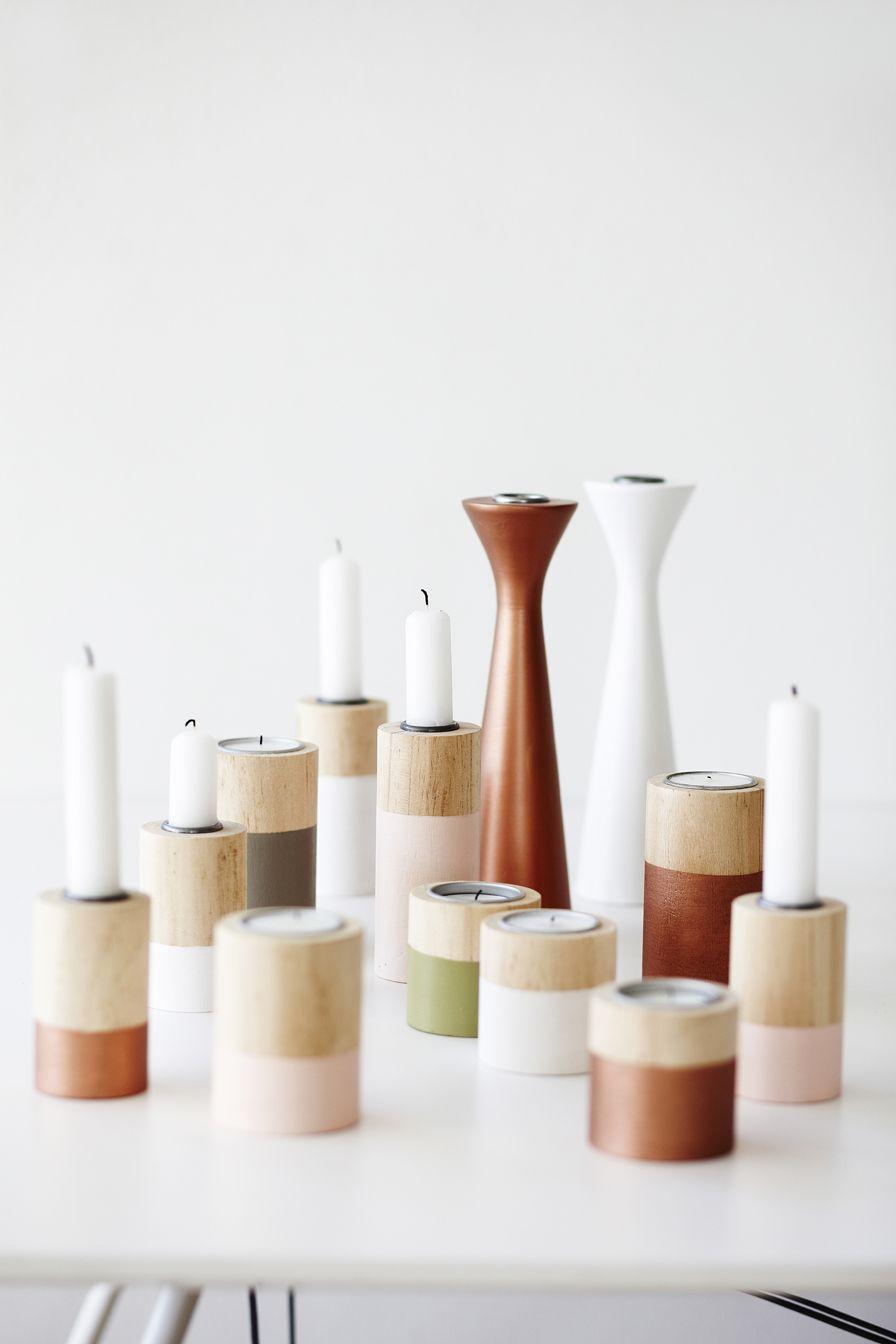 Price from DKK 14,90 / € 2,16 / SEK 20,40 / NOK 19,98 #dipped #candlesticks #wooden #lysestage #interior #interiør #sostrenegrene #søstrenegrene