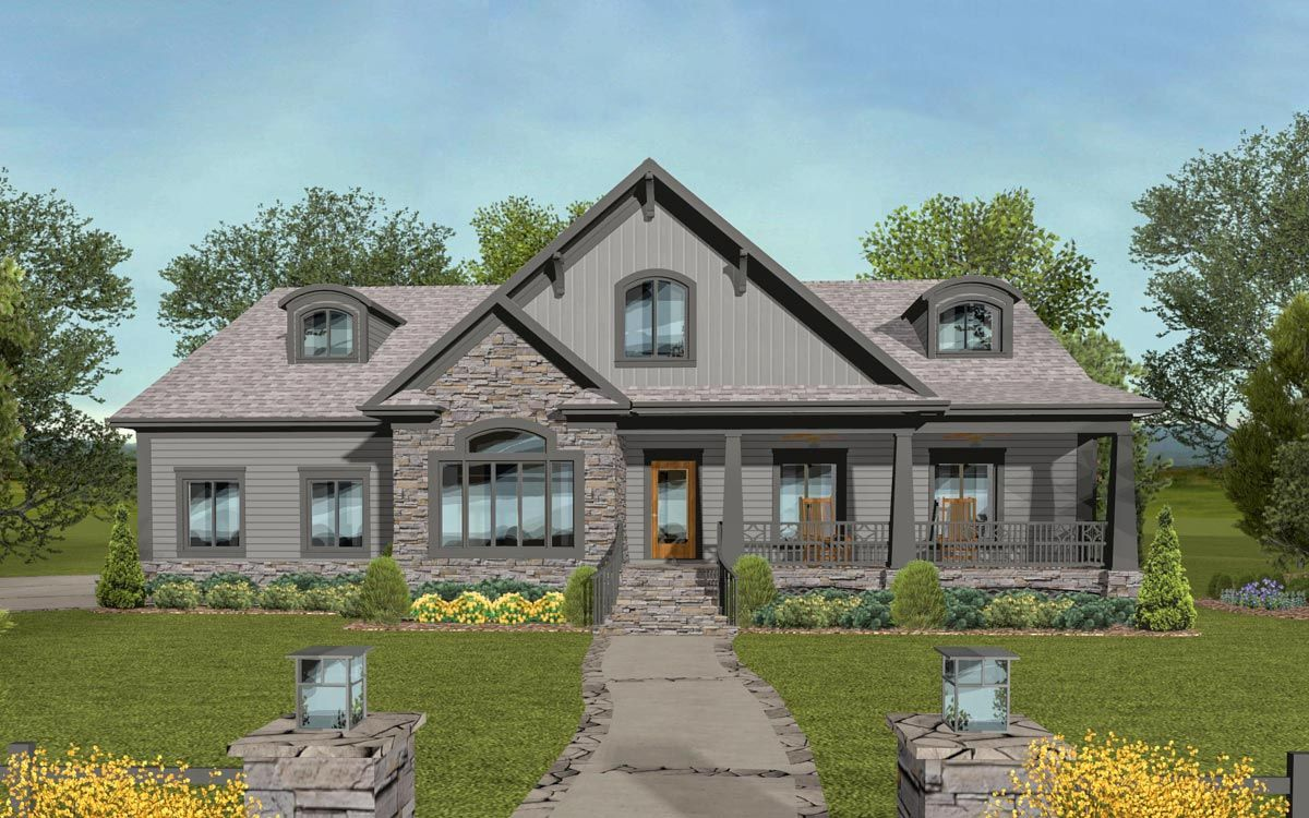 Plan 20142ga Handsome Craftsman House Plan With Optional Bonus
