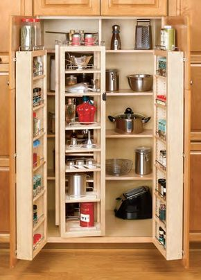 Rev-A-Shelf 4WP18-57-KIT 4W Series 57 Inch Wide Tall Cabinet Swing Out Shelving Natural Tall Cabinet Organizers Shelving Units Swing Out Systems