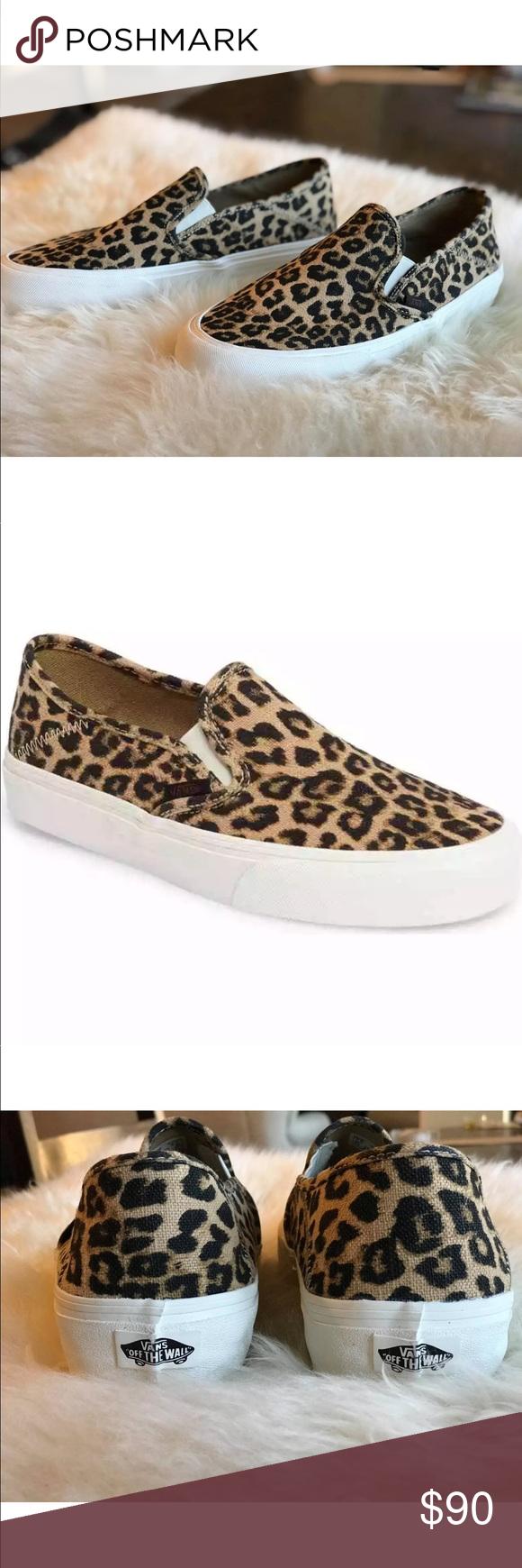 292533bb6c Women s Vans Slip-On Sf Hemp Leopard Shoes NEW AUTHENTIC Vans Classic Slip  On SF