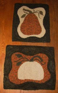 Reverse pumpkins rug hooking patterns from www.theoldtatteredflag.com