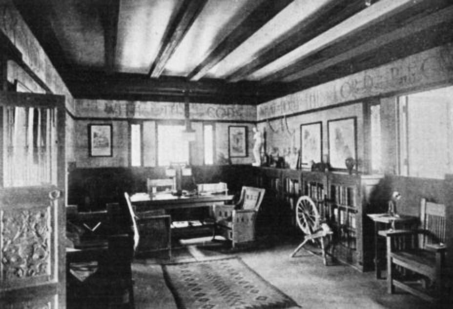 Interior Del Estudio Arquitecto Antonin Nechodoma En San Juan Puerto Rico Ao 1921