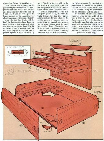 1785 Jewelry Box Plans Woodworking Plans Pinteres
