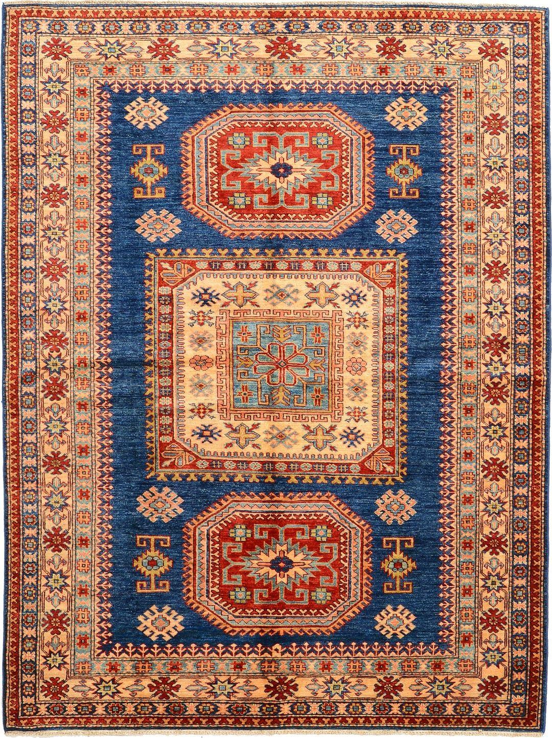 Navy Blue 5 11 X 7 10 Geometric Kazak Rug Oriental Rugs Esalerugs Oriental Rug Scandinavian Rug Rugs