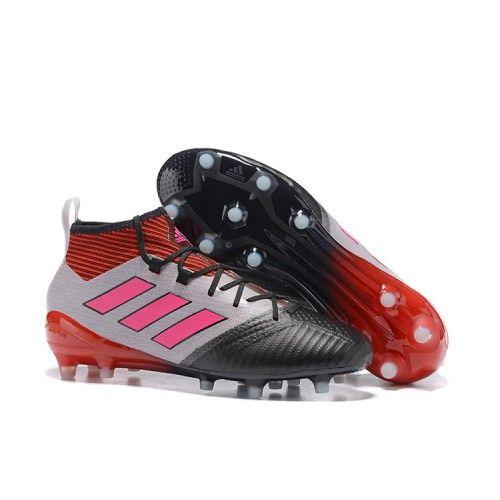 Acheter 2017 Adidas ACE 17.1 FG ACC Chaussures de foot Blanc Noir Rose