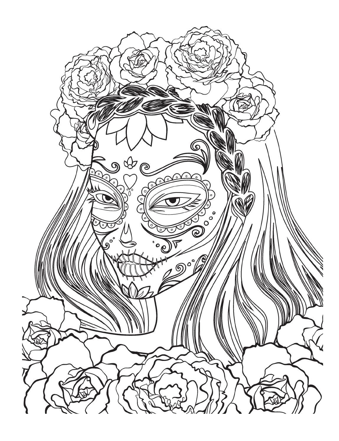 day of the dead coloring page coloring pages momma pinterest