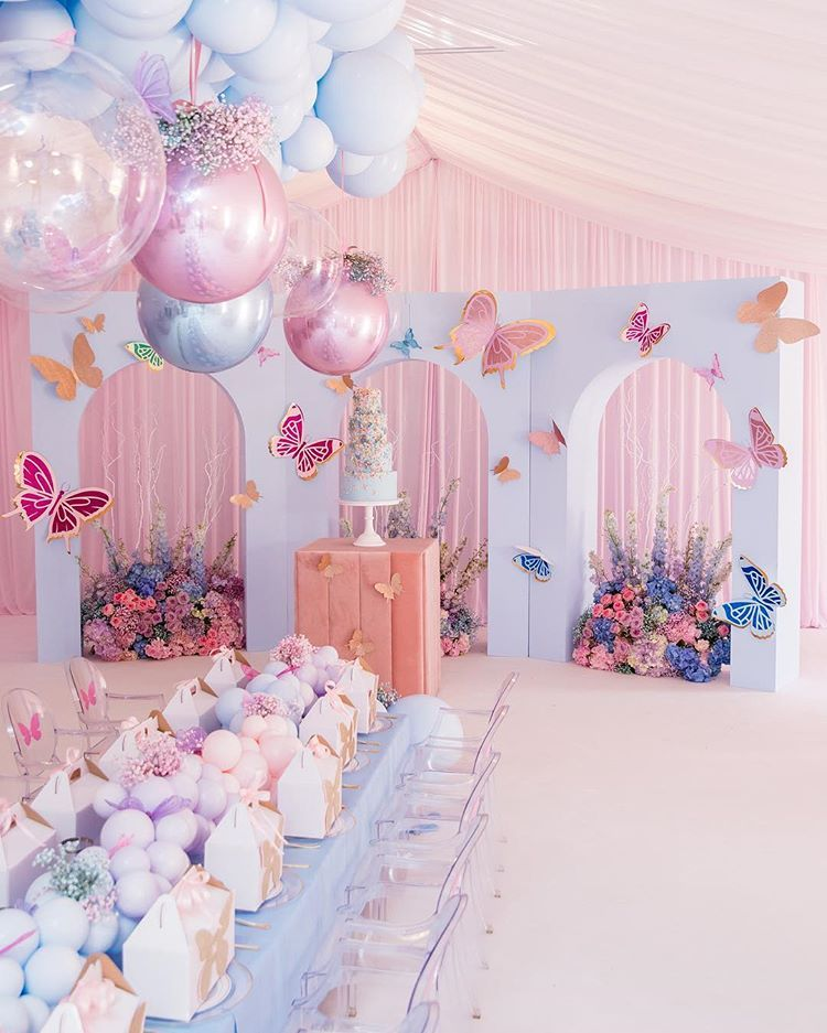Mariam S Magical 1st Birthday Event Planner Florals Styling Naomiestephan Butterfly Theme Party Butterfly Themed Birthday Party Butterfly Baby Shower Theme