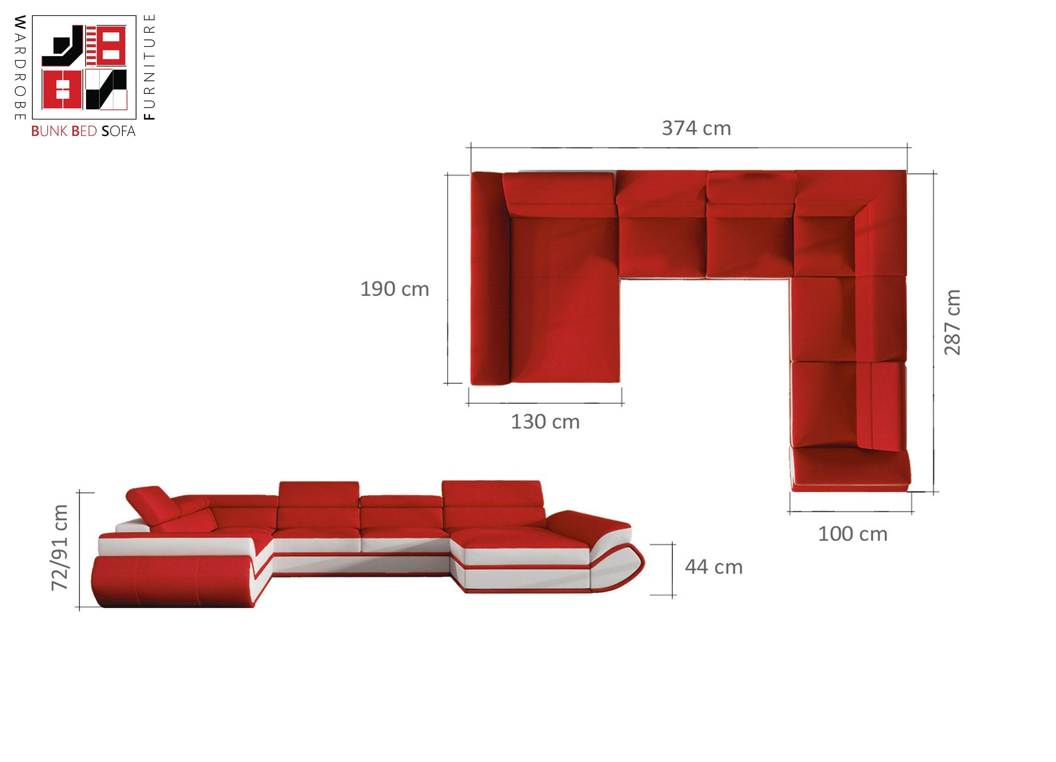 Universe Xl Luxury U Shape Sofa Bed For Extra Ordinary Folkes 374x287x190cm U Shaped Sofa Bed U Shaped Sofa Sofa Bed