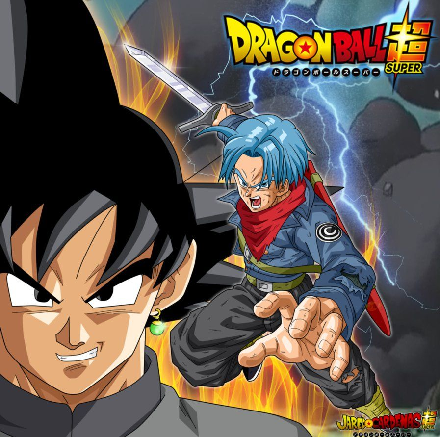 Resultado de imagem para Dragon Ball Super Trunks vs Black Goku