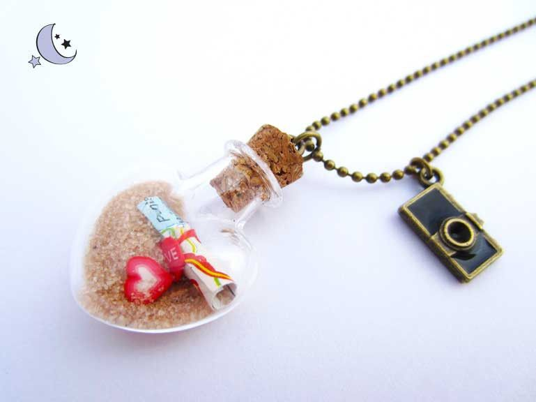 Treasure map inside a glass bottle little bottles pinterest treasure map inside a glass bottle bottle charmsbottle necklacependant aloadofball Image collections